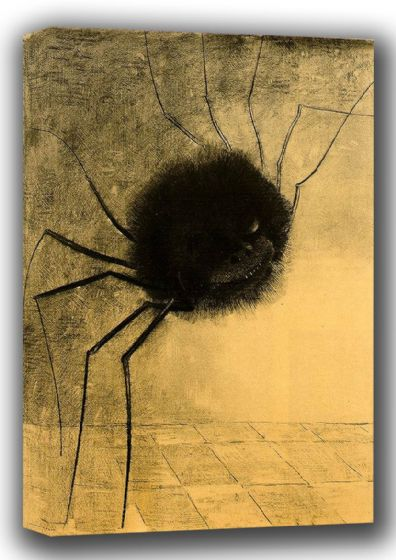 Redon, Odilon (Bertrand-Jean): The Smiling Spider. Fine Art Canvas. Sizes: A3/A2/A1 (001738)